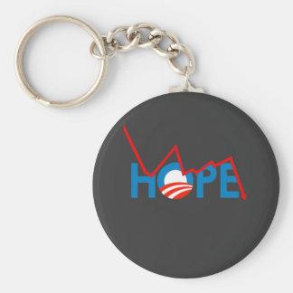 Anti-Obama - zerbrochener Hoffnungs-T - Shirt Schlüsselanhänger