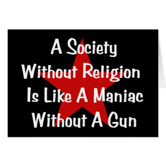 Anti-Religion Zitat Karten