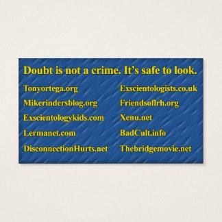Anti-Scientology-Info-Karte (Org Personal) Visitenkarte