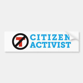 Anti-Trumpf Bürger-Aktivisten-Autoaufkleber Autoaufkleber