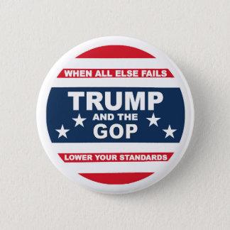 Anti-Trumpf und Anti-GOP Runder Button 5,7 Cm