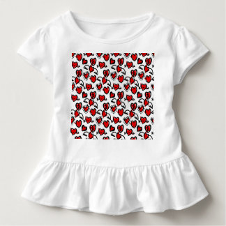 Anti-Valentinsgruß Skizze-Muster Kleinkind T-shirt