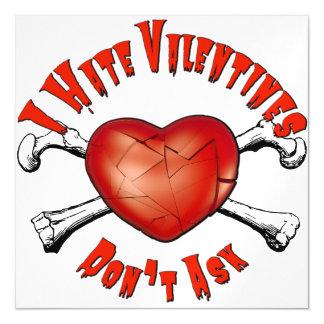 Anti-Valentinsgrüße I Hass Valentinstag; Fragen Magnetische Karte