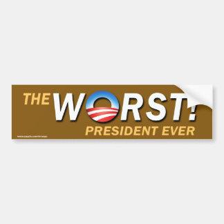 "Antiaufkleber obama-""schlechtester autoaufkleber"