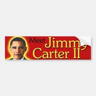 "AntiAutoaufkleber Obama ""Treffen Jimmy Carter II"" Autoaufkleber"