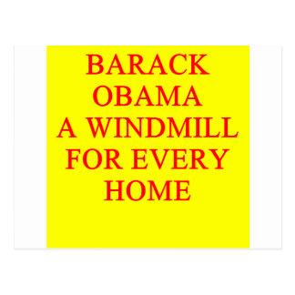 Antibarack obama Witz Postkarte