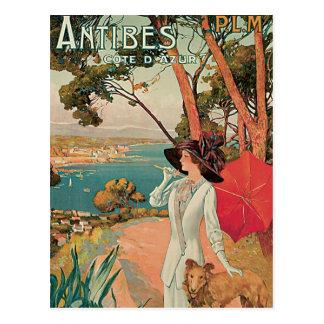 Antibes Côte d'Azur Frankreich Vintag Postkarte