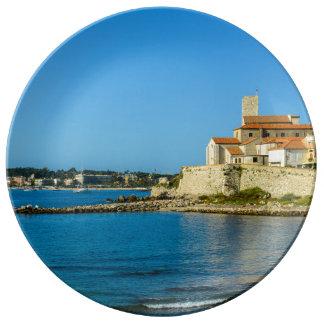 Antibes Frankreich Porzellanteller