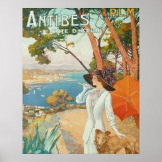 Antibes französisches Riviera Poster
