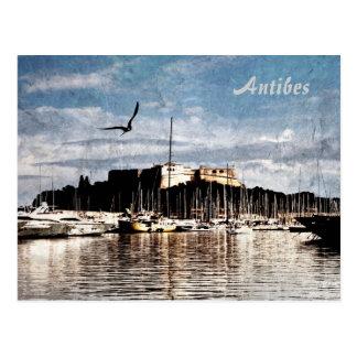 Antibes-Hafenpostkarte Postkarte