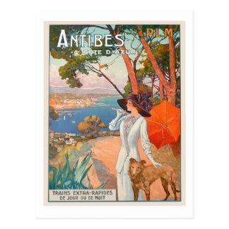 Antibes-Plakat-Postkarte Postkarte