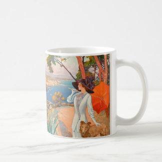 Antibes-Plakat-Tasse Kaffeetasse