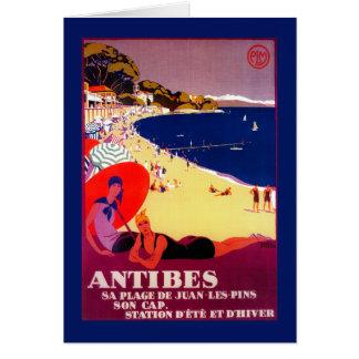 Antibes Vintages PosterEurope Karte