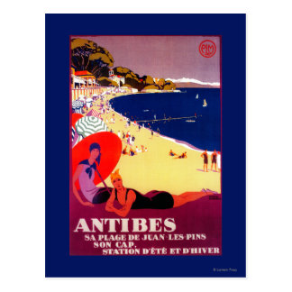 Antibes Vintages PosterEurope Postkarte