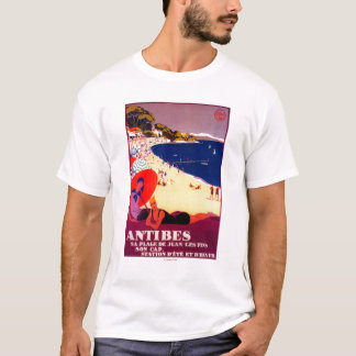 Antibes Vintages PosterEurope T-Shirt