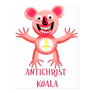ANTICHRIST-KOALA POSTKARTE