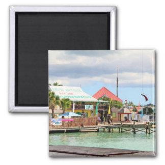 Antigua, Insel in den Karibischen Meeren Quadratischer Magnet