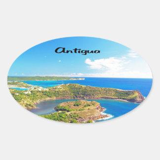 Antigua Ovaler Aufkleber