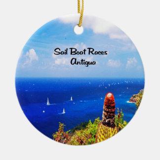 Antigua-Segelbootrennen Keramik Ornament