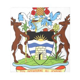 Antigua- und Barbados-Staatsangehörig-Siegel Notizblock