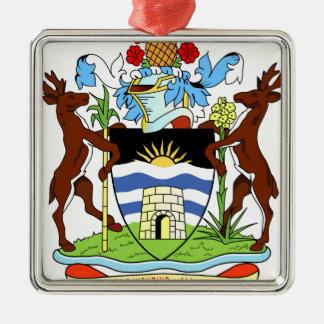 Antigua- und Barbados-Staatsangehörig-Siegel Silbernes Ornament