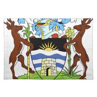 Antigua- und Barbados-Staatsangehörig-Siegel Stofftischset
