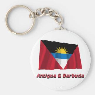 Antigua und Barbuda, das Flagge mit Namen Standard Runder Schlüsselanhänger