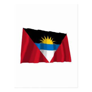 Antigua und Barbuda, das Flagge wellenartig bewegt Postkarte