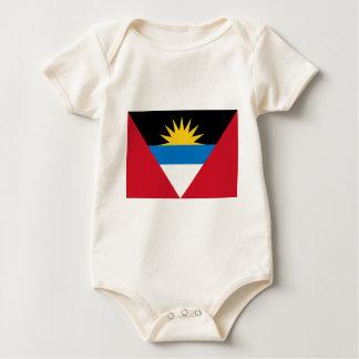 Antigua und Barbuda-Flagge Baby Strampler