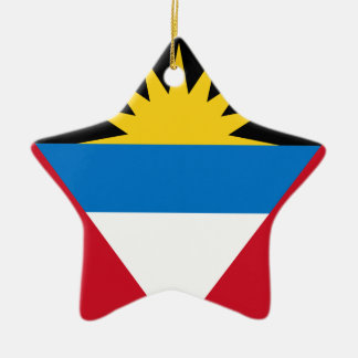 Antigua und Barbuda-Flagge Keramik Ornament