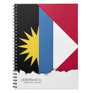 Antigua und Barbuda-Flagge Notizblock