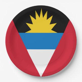 Antigua und Barbuda-Flagge Pappteller