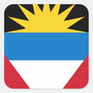 Antigua und Barbuda-Flagge Quadratischer Aufkleber