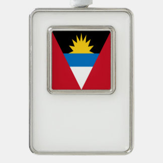 Antigua und Barbuda-Flagge Rahmen-Ornament Silber
