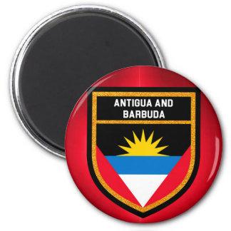 Antigua und Barbuda-Flagge Runder Magnet 5,1 Cm
