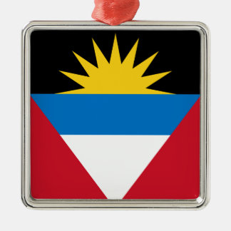 Antigua und Barbuda-Flagge Silbernes Ornament