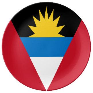Antigua und Barbuda-Flagge Teller