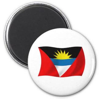Antigua und Barbuda-Flaggen-Magnet Runder Magnet 5,1 Cm