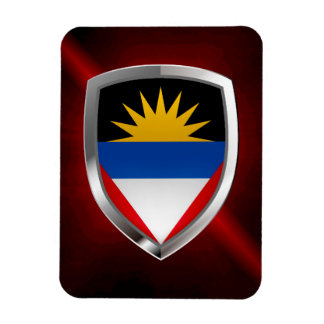 Antigua und Barbuda Mettalic Emblem Magnet