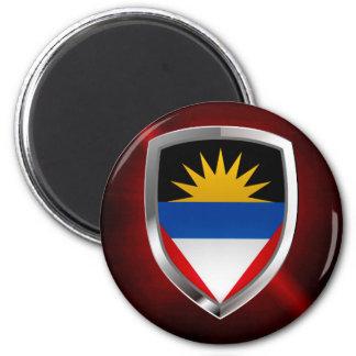 Antigua und Barbuda Mettalic Emblem Runder Magnet 5,7 Cm