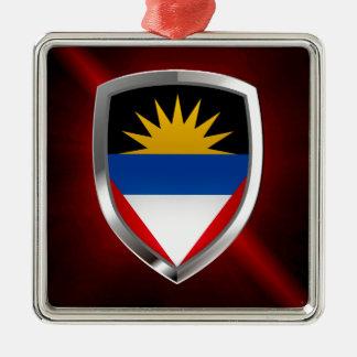 Antigua und Barbuda Mettalic Emblem Silbernes Ornament