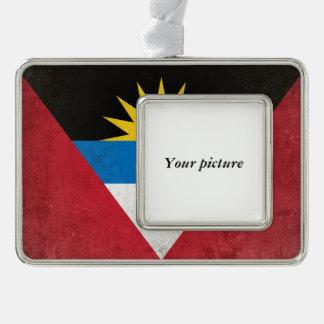 Antigua und Barbuda Rahmen-Ornament Silber