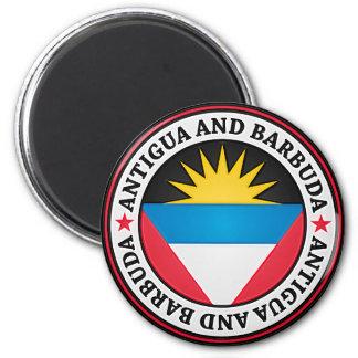 Antigua und Barbuda-rundes Emblem Runder Magnet 5,1 Cm