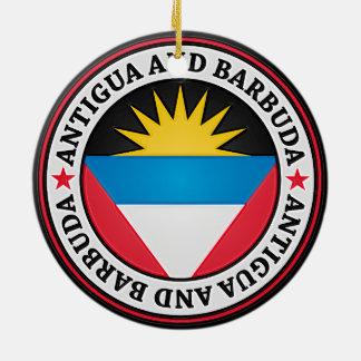 Antigua und Barbuda-rundes Emblem Rundes Keramik Ornament