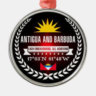 Antigua und Barbuda Silbernes Ornament