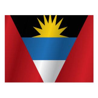 Antigua und Barbudaflagge Postkarte