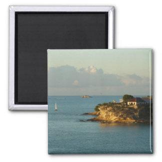 Antiguanische Küsten-schöner Insel-Meerblick Quadratischer Magnet