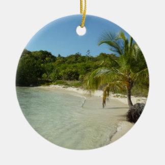 Antiguanischer Strand-schöne tropische Landschaft Keramik Ornament