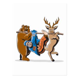 Antijagd-Tier-Rache Postkarte
