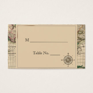 Antike alte Weltkarten-Hochzeits-Platzkarten Visitenkarte